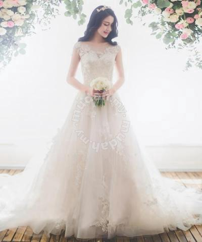 52b1013e24 White wedding gown dress bridal prom RB0072 - Wedding for sale in Johor  Bahru