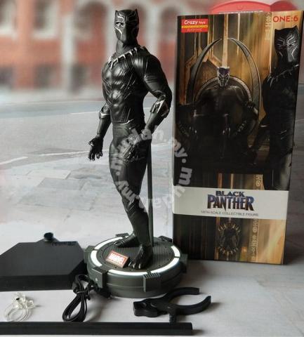 Crazy Toys Black Panther LED base 26cm toy - Hobby