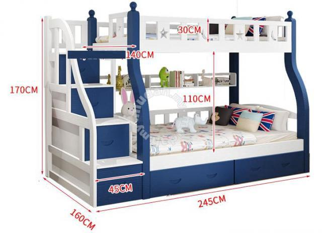 Double Decker Katil Kid Children Ikea Bed Frame 4 Furniture Decoration For Sale In Petaling Jaya Selangor Mudah My