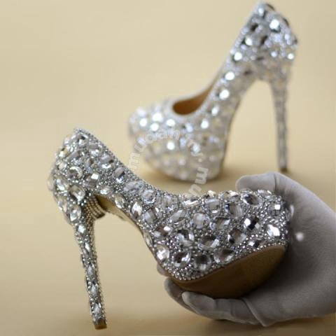 84d64e84aa8 Silver red diamond wedding bridal heels RBH0139 - Shoes for sale in Johor  Bahru, Johor