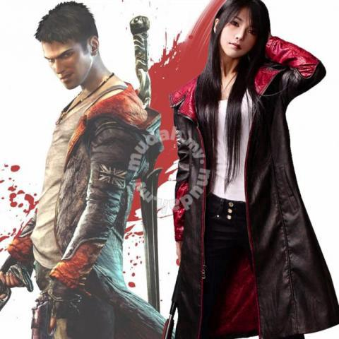 Devil May Cry 5 Dante Cosplay Leather Jacket Clothes For Sale In Georgetown Penang