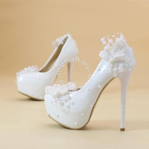 2192530d10c White lace wedding bridal high heels pumps RBH0141 - Shoes for ...