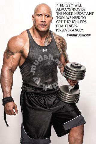 Poster the rock dwayne johnson GYM MOTIVATION - Hobby & Collectibles for  sale in Bukit Bintang, Kuala Lumpur