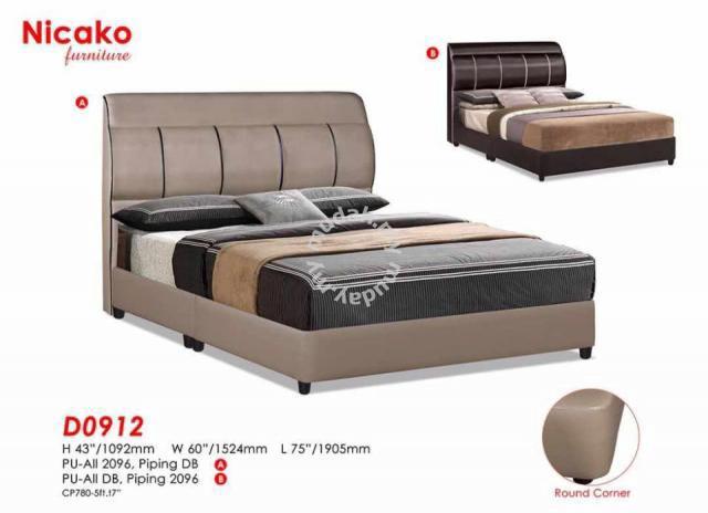 Divan bed katil queen size cube cabinet furniture for Queen size divan