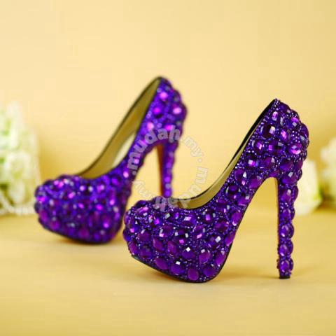 Purple diamond wedding bridal high heels RBH0143 - Shoes for sale in ...