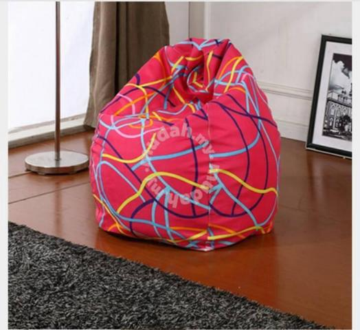 Pink Lining Bean Bag Chair Stool Sofa Kerusi