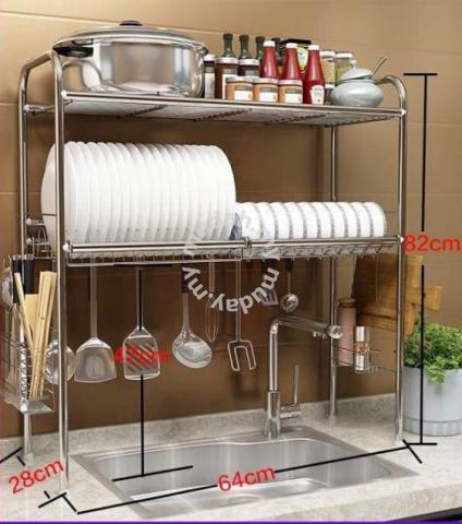 Rak Pinggan 2 Layer Sinki Dapur 677 Home Liances Kitchen For In Others Negeri Sembilan