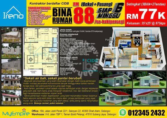 New Pkp Offer Cidb Kontraktor Tukang Bina Rumah Murah Ibs Siap 6minggu Houses For Sale In Shah Alam Selangor Mudah My