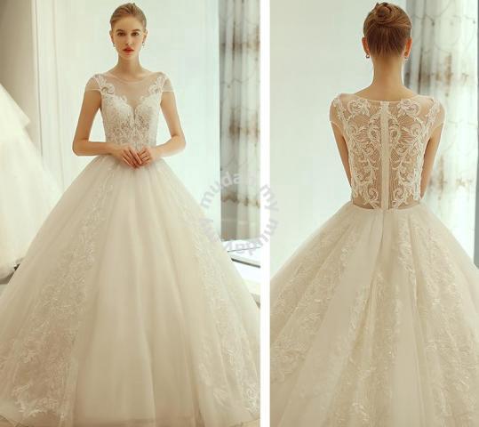 d851fb58bb Cream fishtail wedding bridal prom dress RB0529 - Wedding for sale in Johor  Bahru