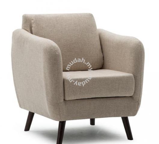White Sofa Single Seat Sit Putih Ikea