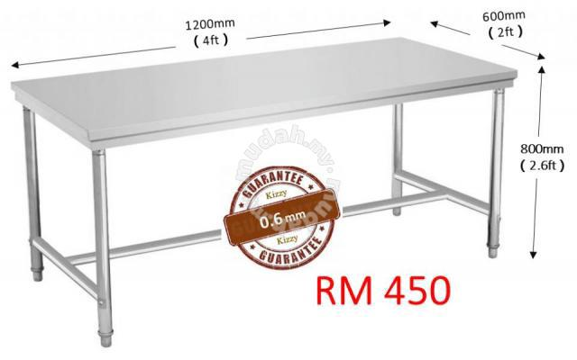 Stainless Steel Table Home Appliances Kitchen For Sale In Sungai - 6ft stainless steel table