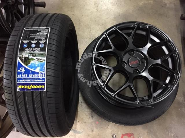 Sport Rim SSW ori Thai design HRE siap tyre 15 - Car Accessories & Parts  for sale in Shah Alam, Selangor