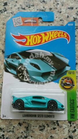 Hotwheels Lamborghini Sesto Elemento Blue Hobby Collectibles