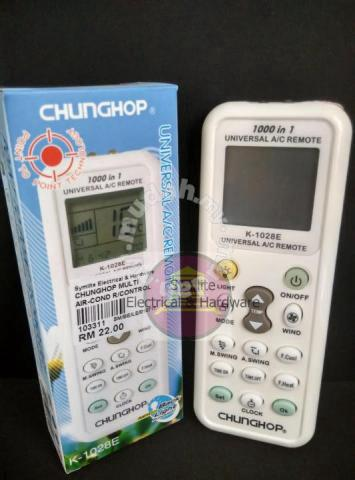 Chunghop universal air conditioner remote control - Home Appliances &  Kitchen for sale in Puchong, Selangor