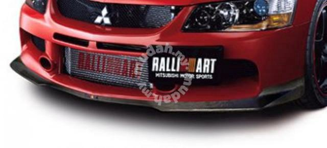 Ralliart Lip Carbon Fiber Lancer Evolution 9 evo - Car Accessories & Parts  for sale in Butterworth, Penang