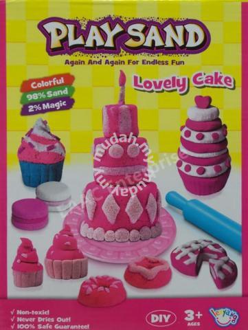 Stupendous Play Sand Diy Educational Kit Sand Birthday Cake Moms Kids Personalised Birthday Cards Veneteletsinfo