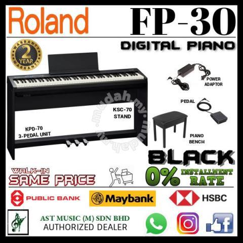 Roland Fp 30 Digital Piano Black Full Music Instruments For Sale In Setapak Kuala Lumpur Mudah My