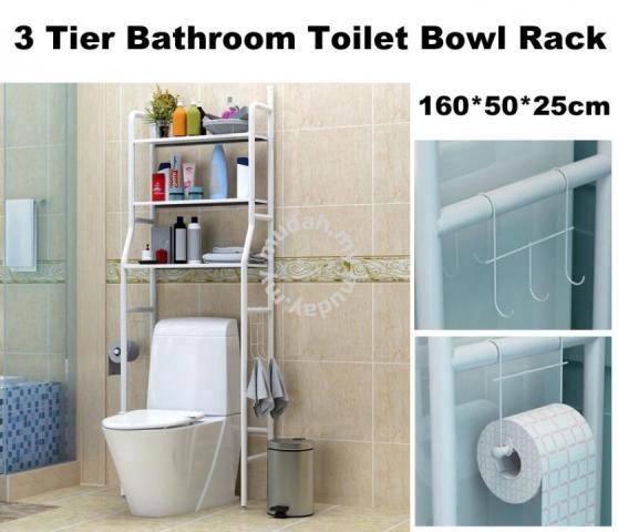 3Tier Bathroom Toilet Storage Organizer Rack Shelf   Furniture U0026 Decoration  For Sale In Batu Pahat, Johor