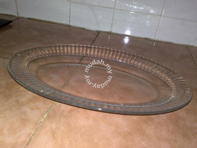 Pinggan vintage Arcoroc glass oval plate - Home Appliances & Kitchen
