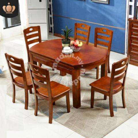 Dining Table Kitchen 6 Chairs Wooden Set Ikea 2