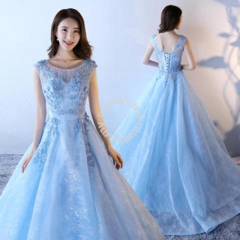 500fdf9d67 Blue prom wedding bridal gown dress RB0450 - Wedding for sale in Johor Bahru