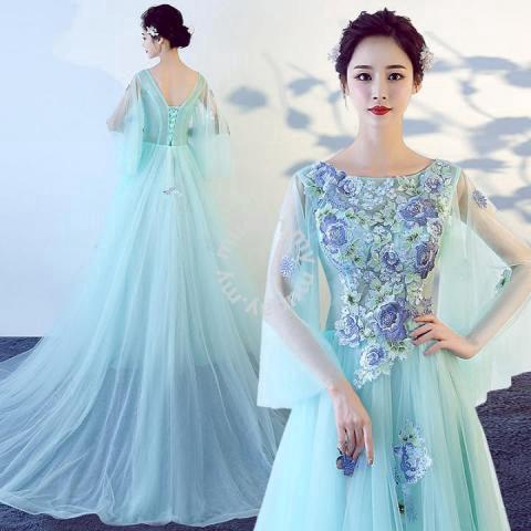 8322a8f78b Blue green prom wedding bridal gown dress RB0456 - Wedding for sale in Johor  Bahru