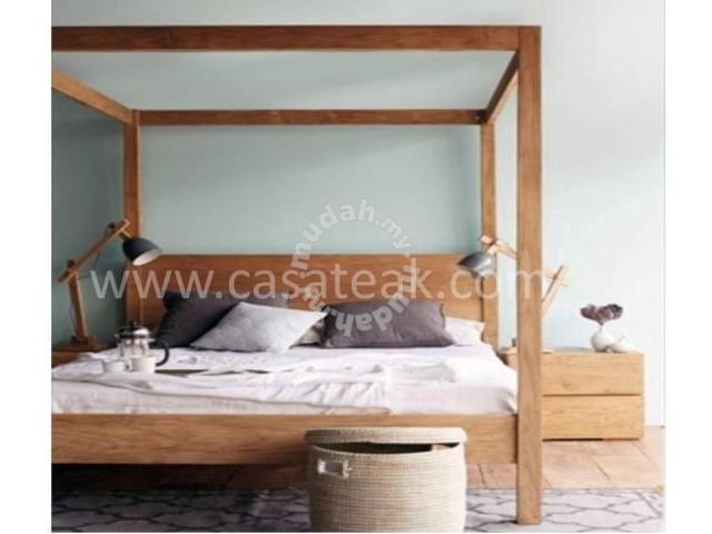 Good Quality 4 Poster Teak Wood Bed Frames Kl Furniture Decoration For Sale In Putra Heights Selangor