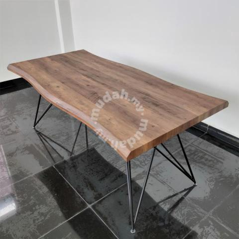 1 8m Walnut Dining Table Frm5179 Furniture Decoration For Sale In Johor Bahru Johor Mudah My