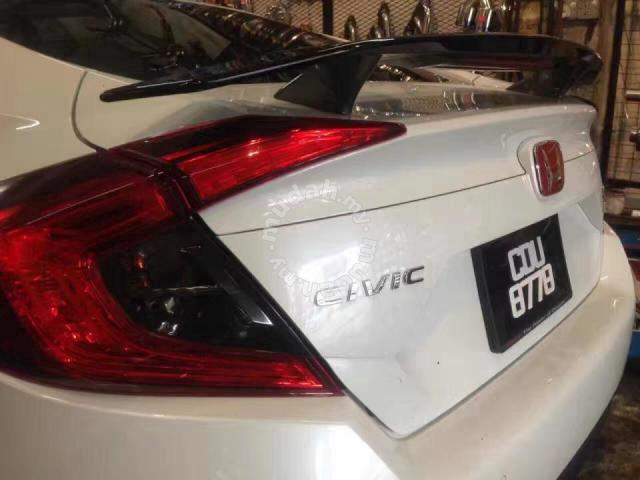 Honda Civic Fc Si Spoiler Abs With Brake Light Car Accessories