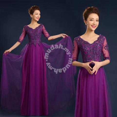 c42d2687576d Red cream blue purple long sleeve wedding dress RB - Clothes for ...