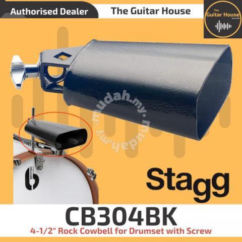Stagg CB304BK 4-1//2″ Cowbell Black