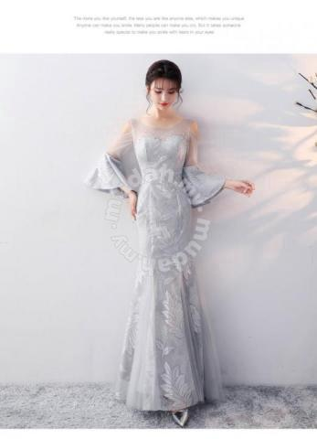 Grey Wedding Dress.Grey Wedding Prom Evening Dress Gown Rbp0675 Clothes For Sale In Johor Bahru Johor