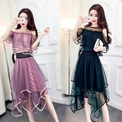 black pink dress