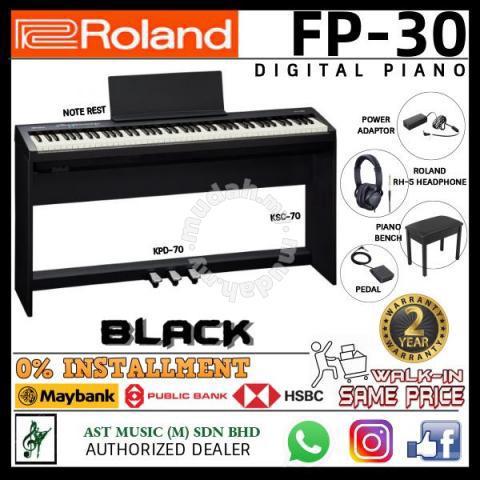 Roland Fp 30 Digital Piano Full Black Music Instruments For Sale In Setapak Kuala Lumpur Mudah My
