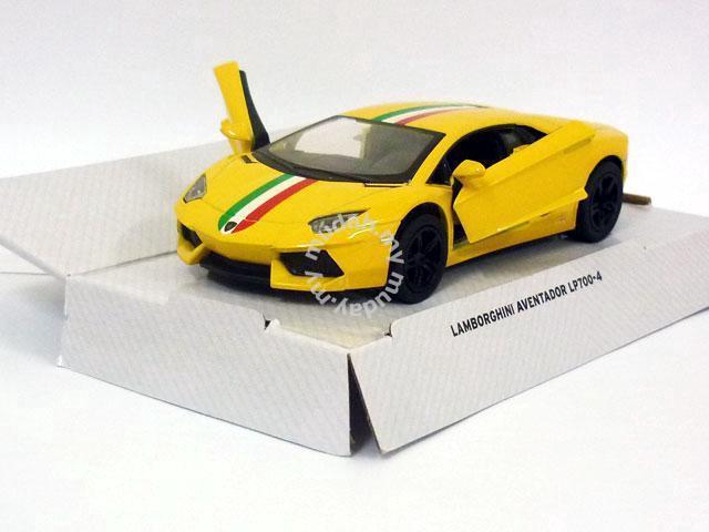 Diecast Lamborghini Aventador Lp700 4 Yellow Hobby
