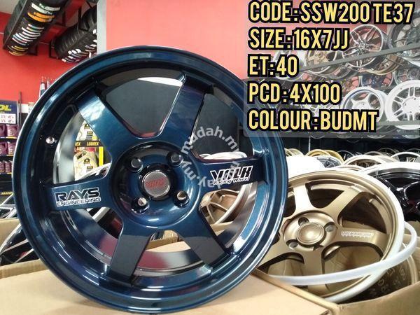 Rim 16 Inch TE37 Magnesium Blue Auto Option Thaila