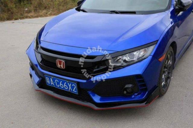 civic fc type r front bumper grill grille bodykit - car accessories & parts  for sale in setapak, kuala lumpur