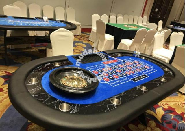 Roulette Table Poker Desk Casino Spin Wheel Meja 1 Furniture Decoration For Sale In Petaling Jaya Selangor Mudah My