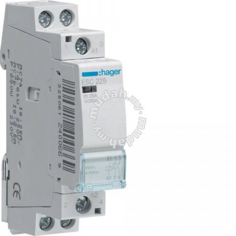 Hager esc225 contactor 25a   professional/business equipment for ...
