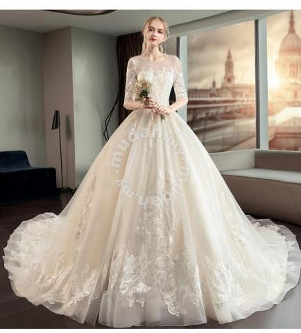 White Long Sleeve Wedding Dress Rb0900 Wedding For Sale In Johor Bahru Johor