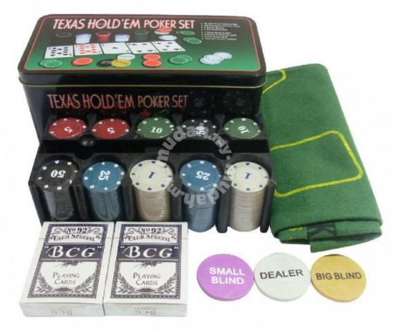 Texas Poker Games Set With 200 Chips Hobby Collectibles For Sale In Johor Bahru Johor Mudah My