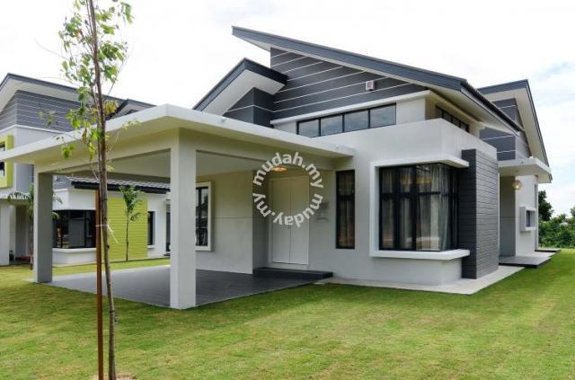 One krubong single storey bungalow freehold bumi and for Single storey bungalow design