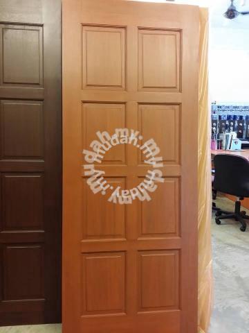 Pintu Kayu Solid Untuk Depan Bilik Office Furniture Decoration For In Alor Setar Kedah