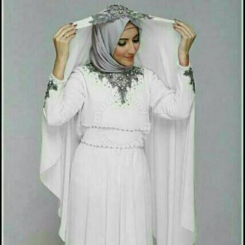 big clearance sale new specials shop for newest Nazwa maxi dress long sleeve Muslimah prom wedding - Clothes for sale in  Johor Bahru, Johor