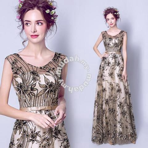 514fc57b Gold glitter dinner dress prom wedding RBP0074 - Clothes for sale in ...