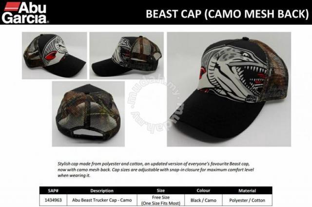 f0ca7cdb04c7d Abu Garcia Revo Beast Trucker Cap Camo Topi Caps - Watches   Fashion ...