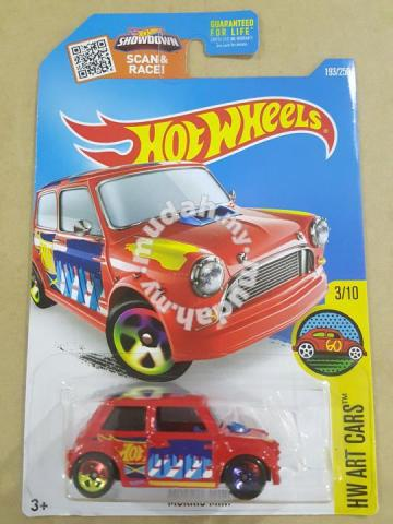 Hotwheels Morris Mini Red Us Card 2016 Hobby Collectibles For