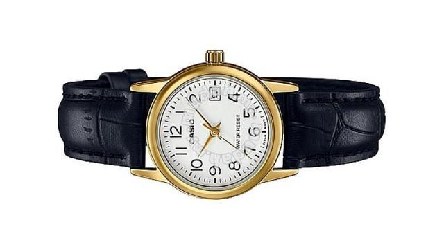 9d5583f3c Casio Ladies Leather Date Watch LTP-V002GL-7B2UDF - Watches ...
