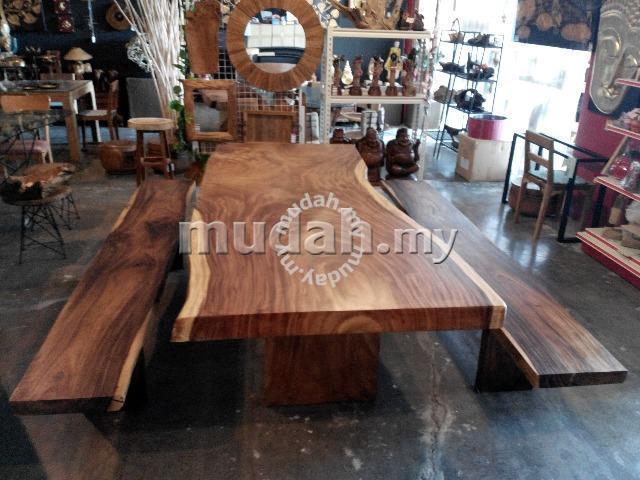 aipj rain tree acacia wooden table slab 250cm furniture