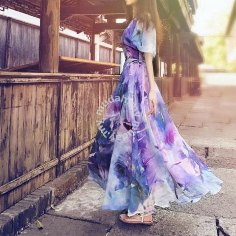 cde23d3f4c7f Purple long sleeve boho summer maxi dress RBP0543 - Clothes for ...
